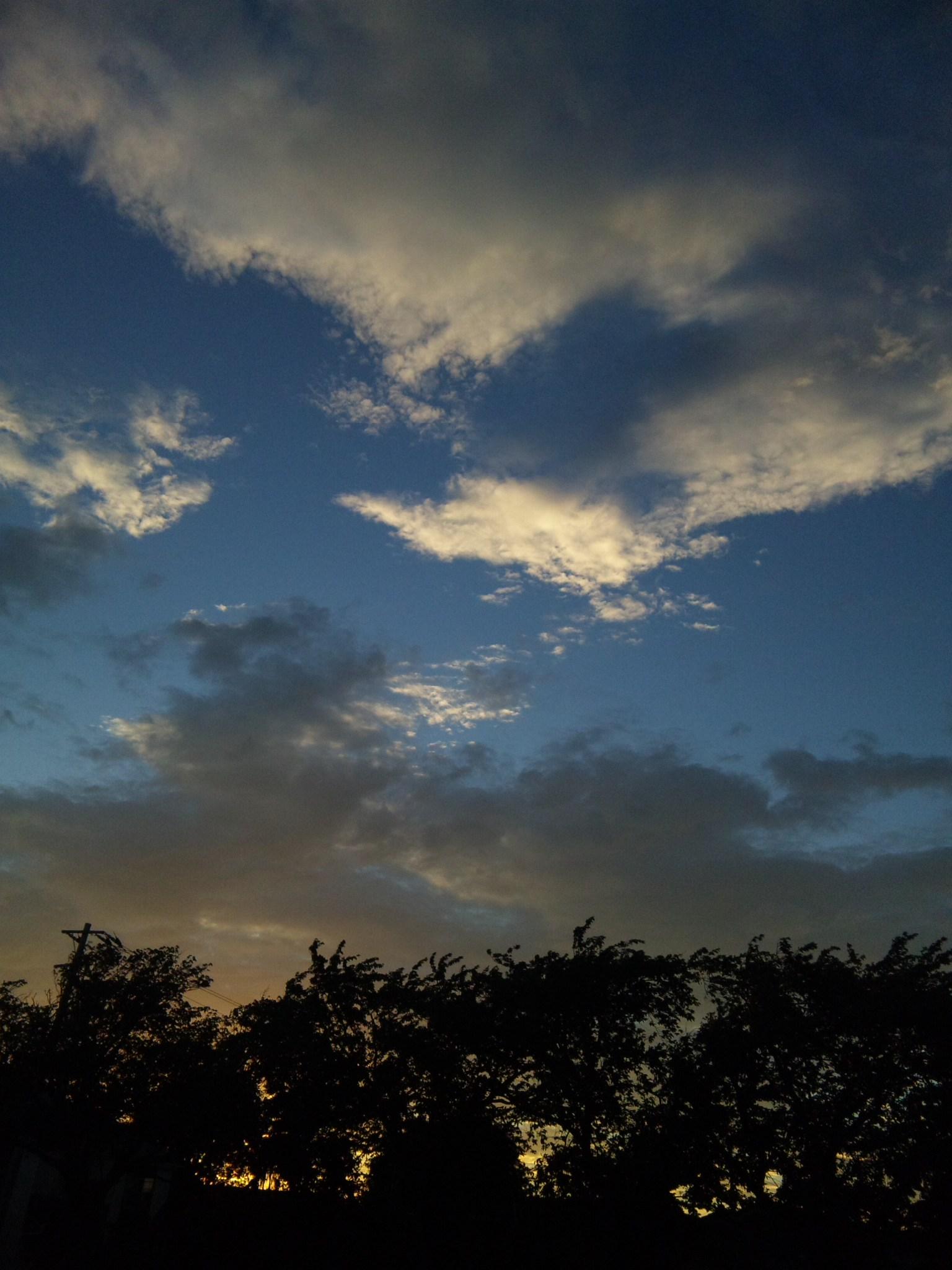 昨日の夕焼け