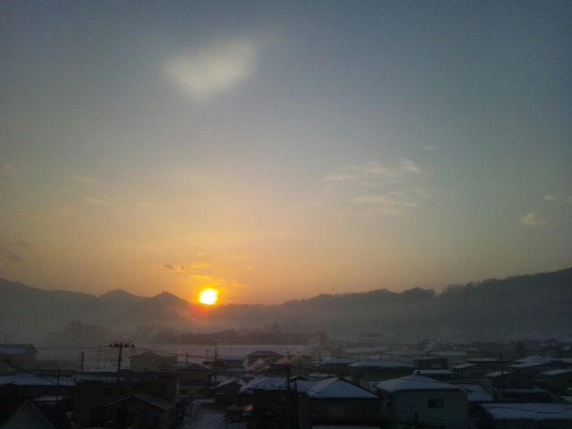 今朝の朝焼け